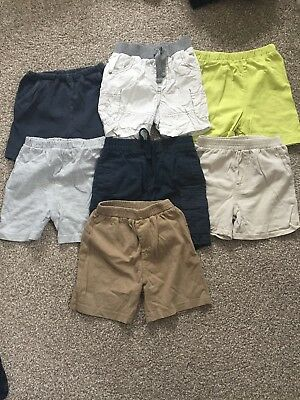 Bundle Of 7 Boys Summer Shorts - Age 12-18 Months