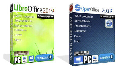 2019 Open Office + Libre Office Pro Word Spreadsheets For Windows & MAC Download