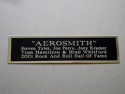 """Aerosmith Nameplate For A Signed Concert Poster Album Or Photograph 1.25"""" X 6"""""""