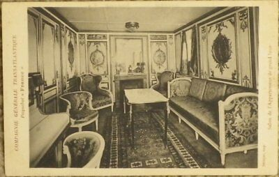 CPA CGT - Paquebot France 1912 - Salon grand luxe - BE