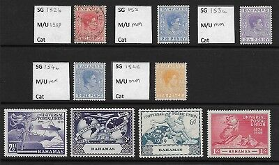 Stamps. Bahamas. KGVI. MM and 1 Used.
