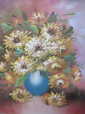 still life flowers roses rose flower floral large oil painting