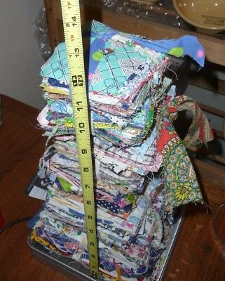 1930's Feedsack Quilt Blocks SQUARES COTTON over 3 lb's