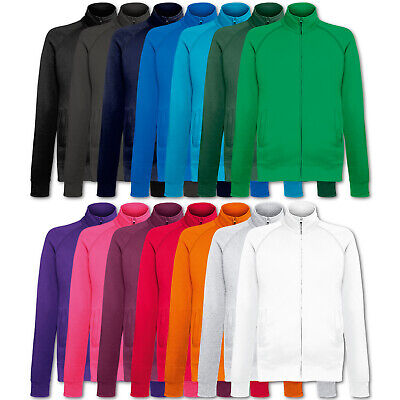 Fruit of the Loom Sweatjacke Sweatshirt Lightweight Sweat Jacket Pullover S-2XL