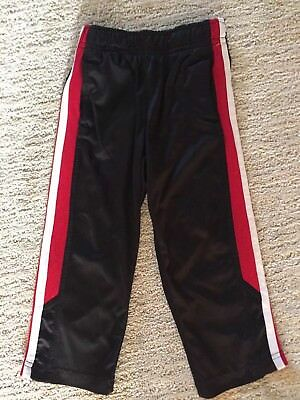 Nike Dri Fit Toddler Boys Pants Black wRed & White Stripe 2T