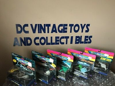 Micro Machines STAR TREK Collection of 5 Sets of Spaceships Brand New Sealed