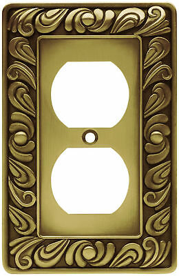 Single Duplex Outlet Wall Plate Switch Cover Tumbled Antique Brass Plates Light