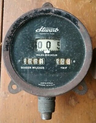 Antique Stewart Speedometer Magnetic Model A? T? UNTESTED