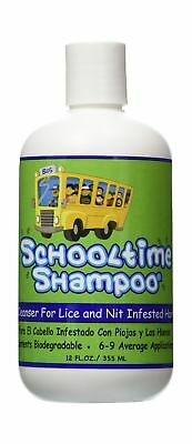 Schooltime Shampoo for Lice & Nit Elimination-- 12 OZ. Highly Effective After...