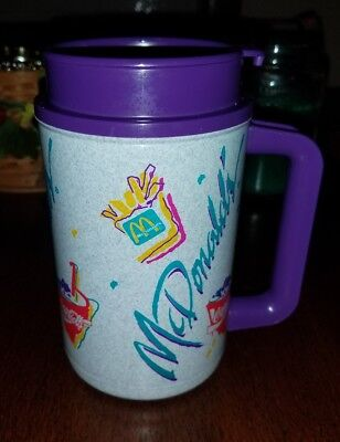 Vintage 90's Whirley Thermo McDonald's Coca Cola Travel Mug Cup New Old Stock
