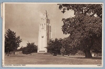 VINTAGE POSTCARD - MEMORIAL PARK COVENTRY WARWICKSHIRE- Posted 1954
