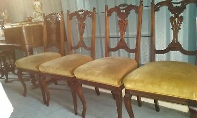 Set Of 4 Edwardian Mahogany Chairs