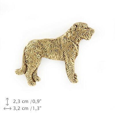 Irish Wolfhound Pin ~ 24K Gold ~ Lapel Pin