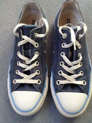 Ladies Converse All Star Navy Blue Double Tongue Traners/Shoes - Size 6