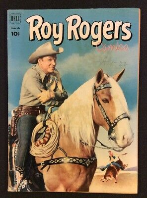 ROY ROGERS COMICS #51 March 1952 Golden Age Western Comic PHOTO COVER Dell Fine+