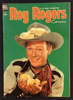 ROY ROGERS COMICS #65 May 1953 Golden Age Western Comic PHOTO COVER Dell Fine+