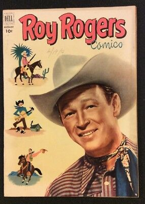 ROY ROGERS COMICS #56 Aug 1952 Golden Age Western Comic PHOTO COVER Dell Fine+