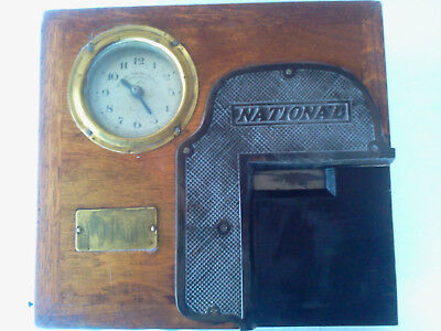 Vintage Clock National Clocking In Machine Time Recorder Super Example Rare