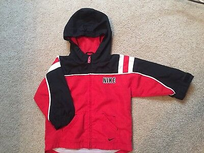 NIKE Boys Hooded Jacket Full Zip Black w/Red and White Infant 18 Month