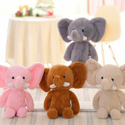 1 Pcs Cute Elephant Soft Plush Toy Stuffed Animal Baby Kids Gift Animals Doll