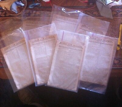 """MORMON LDS """"TIMES AND SEASONS """" 1844 news paper Vol V - 8 editions"""