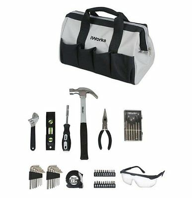 iWork 50 Piece Garage/Mechanics/Homeowners Tool Set W/Carrying Bag GRY/BLK -NEW
