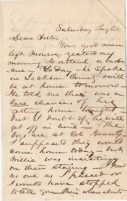 Confederate General Thomas R.R. Cobb, 2-page letter; he was killed in 1862