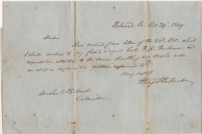 Confederate General Philip St. George Cocke, 1849 letter; he died in 1861