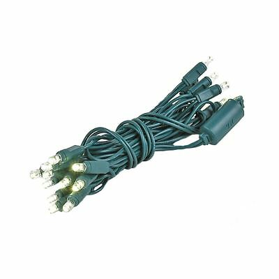 20 Light LED Christmas Mini Light, Warm White, Non-Connectable, Green Wire, 8.5'