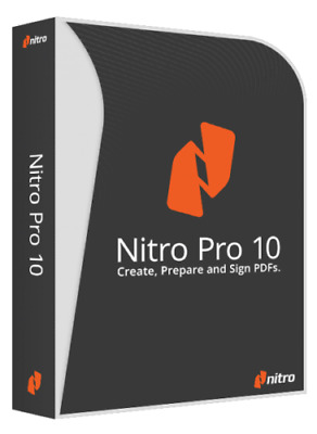 Nitro Pro 10 PDF Viewer Creator Editor Converter Software Download Windows 64bit