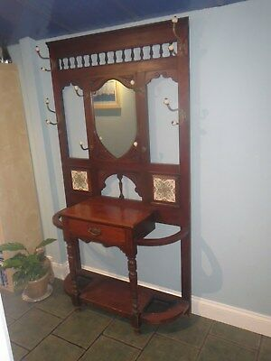 Antique wooden hall stand