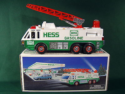 Hess Collectible Toy Emergency Truck w/Box ~ 1996