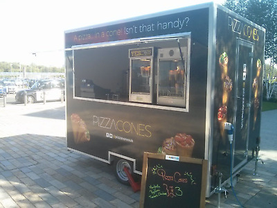 10x7ft Branded Pizza Cone Trailer. Finance available from £200 a month