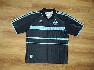 Olympique Marseille 1999 - 2000 very rare sponsorless third sample shirt size L