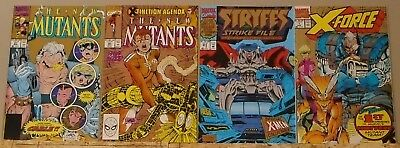 Gold 2nd print variant lot New Mutants 87 95, X-Force 1 & Stryfe's Strike File 1