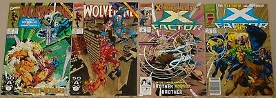 X-Men titles 2nd print gold variant lot of 4: Wolverine 41 42 & X-Factor 60 71