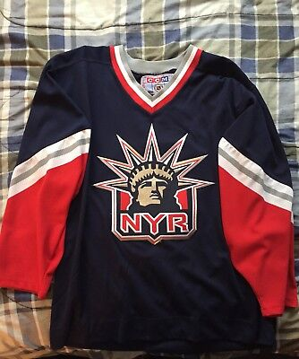 7a4d349e8 promo code for new york rangers vintage ccm nhl hockey jersey lady liberty  blue l 4f45b