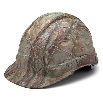 Pyramex HP44119 Ridgeline Matte CAMO Hard Hat W/4 Pt. Ratchet Suspension