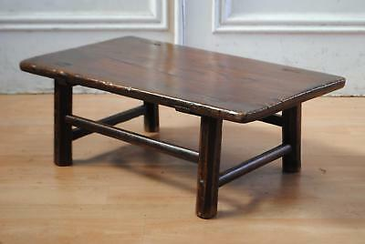 Antique C19th Japanese Cypress Low Table - Oriental Side Coffee Drawing