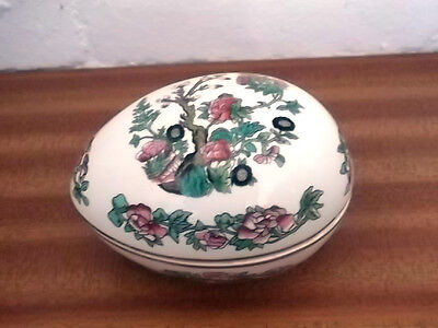 Lord Nelson Pottery Egg Shaped Trinket Box  In An Indian Tree Pattern