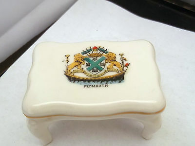 Vintage Shaped Model Of A Table  Crested Plymouth  By Gemma China