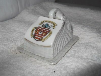 Model Of A Cheese Dish And Underplate Crested Eastbourne By Gemma China