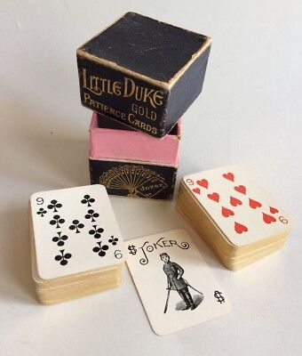 Vintage Little Duke Gold Patience Cards Little Playing Cards Complete Set
