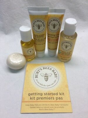 Burt's Bees Baby Bee Getting Started Kit (NO BOX) 5 Piece Set, New Sealed C4 C