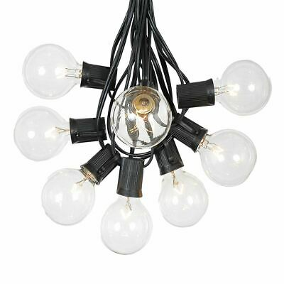 100 Foot G50 Outdoor Globe Patio String Lights - Set of 125 G50 E12 Clear Bulbs