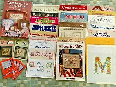 New X Stitch Pattern Booklets/Books ALPHABETS!  Your choice of many!