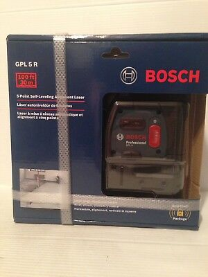 Bosch 100' 5-Point Self-Leveling Alignment Laser Level GPL 5R