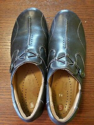 Clarks Unstructured Women's Un.Loop Slip-On,Brown Leather loafers 10 US EUC