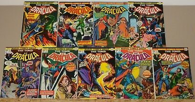 Tomb of Dracula #21-29 complete run of 9 1st Hannibal King (#25) 1974 vs Blade