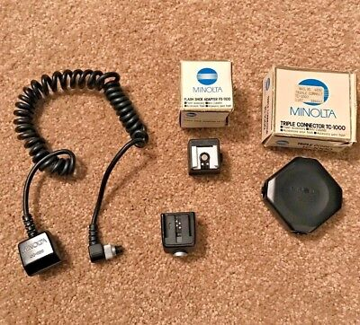 Minolta Or Sony Alpha Flash Accessories; TC-1000, FS-1100, OS-1100, OC-1100